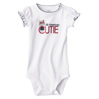 JUST ONE YOU Made by Carters Infant Girls&#x27; Single Bodysuit - White Sand