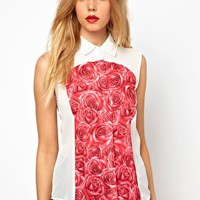 Lavish Alice Shirt In Rose Print at asos.com