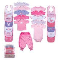 Baby 24-Piece Outfit Gift Cube Pink 0-12M