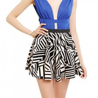 Graphic Scuba Knit Skater Skirt