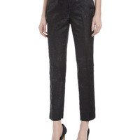 Ian Jacquard Pants, Black