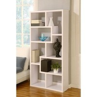 Masima Unique Bookcase / Display Cabinet in White:Amazon:Furniture & Decor