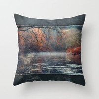 between fall &amp; winter Throw Pillow by Dirk Wuestenhagen Imagery