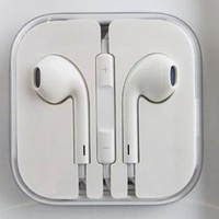 niceEshop Earbuds EarPods With Remote And Mic Earphone Headphone For IPhone 3/4/5, Ipad, Ipod - White (Crystal Box Packing) +Free niceEshop Cable Tie