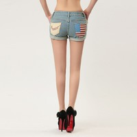 US Flag Short Jeans