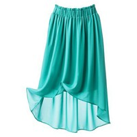 Mossimo Women&#x27;s High Low Skirt -Aqua