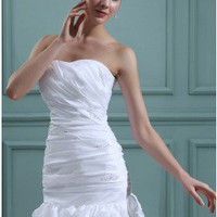 Ruffles Column/Sheath Slight Sweetheart Destination Summer Wedding Dress