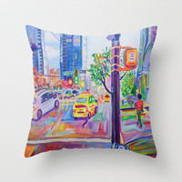 Wall Centre From Nelson And Burrard Throw Pillow by Morgan Ralston