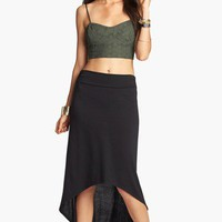Lily White High/Low Hem Maxi Skirt (Juniors) | Nordstrom