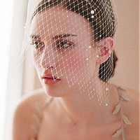 [19.99] Chic Tulle Milk White Wedding Bridal Headpiece - Dressilyme.com