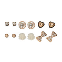 6 On Bow Tie Earring Set | Shop Jewelry at Wet Seal