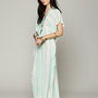 Free People Slub Stripe Kaftan Maxi