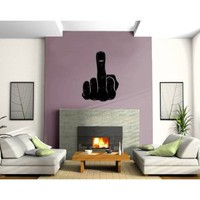 Amazon.com: Man Fist Middle Finger Rude Fuck Off Sign Decor Wall Mural Vinyl Art Sticker M522: Everything Else