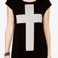 High-Low Cross Tee | FOREVER 21 - 2035335941