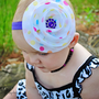 Dots Birthday Flower headband couture baby hair by littlelambshop