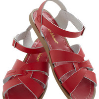 Outer Bank on It Sandal in Red | Mod Retro Vintage Sandals | ModCloth.com