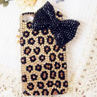 Leopard Bowknot Hard Case For iPhone