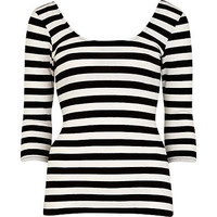 Black and white striped ballerina top - t-shirts / tanks / sweats - sale - women
