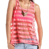 Shadow Stripe Hi-Low Tank: Charlotte Russe