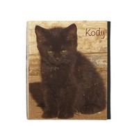Little Black Kitten iPad Folio Case *Customize* from Zazzle.com