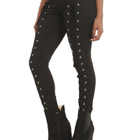 Royal Bones Lace Up Skinny Jeans | Hot Topic