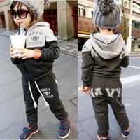 Boys Hoodie Girls Coat Children Lovely Cotton Pants Christmas Cute Outerwear 1Ak