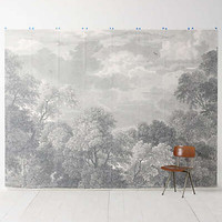 Etched Arcadia Mural by Anthropologie Grey Motif One Size Wall Decor