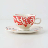 Anthropologie - Evenings In Quito Cup & Saucer