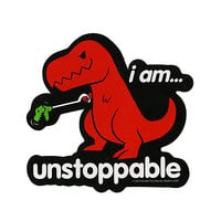 Unstoppable T-Rex Sticker | Hot Topic
