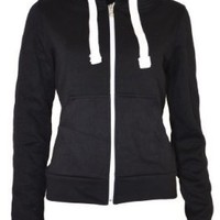 Urban Womens Pull String Zip Hoodies Sweaters:Amazon:Clothing