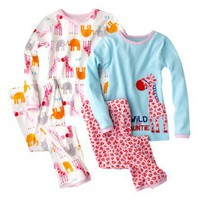 Just One You® by Carter's® Infant Toddler Girls' Cotton Pajama Set - Pink/White/Turquoise