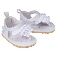 JUST ONE YOU Made by Carters Newborn Girls&#x27; Eyelet Ruffle Sandal - white Newborn