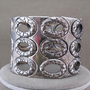 Wide Silver Metal Industrial Cuff Bracelet