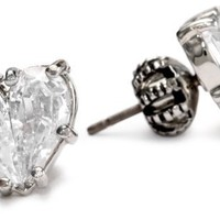 Juicy Couture Cubic Zirconia Heart Stud Earrings