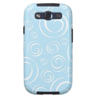 Baby Blue Swirl Pattern Pt81 Samsung Galaxy S3 Covers from Zazzle.com