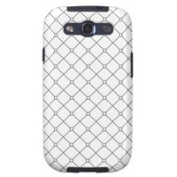 Tuxedo Black & White Geometric Pattern Pt78 Samsung Galaxy SIII Covers from Zazzle.com