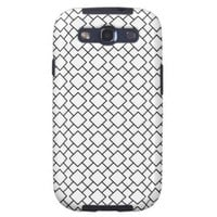 Tuxedo Black and White Geometric Pattern Pt8 Galaxy SIII Cover from Zazzle.com