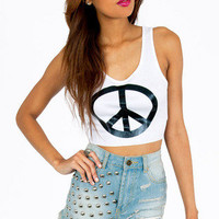 Peace Up Tank Top $14