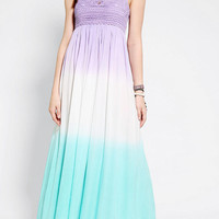 Lovecat Crochet-Top Dip-Dye Maxi Dress