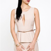 Keepsake In Your Light Dress- Keepsake Peplum Dress- $80