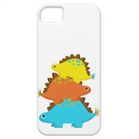 Stack of Stegosaurus iPhone Case from Zazzle.com