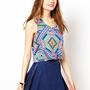 A Wear Aztec Print Crop Top at asos.com
