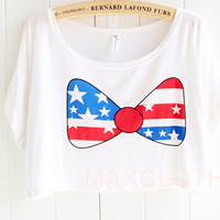 Bow with Star Print Tees
