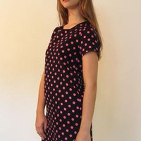 Polka Dot Print Mini Shift Dress