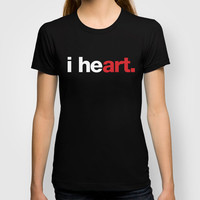 i heart (black) T-shirt by WORDS BRAND