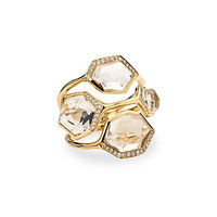"Rue La La - IPPOLITA ""Modern Rock Candy"" 18K 7.25 cttw. Diamond & Quartz Ring"