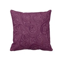 Luxury Wine Color Swirl  Decorative Throw Pillow from Zazzle.com