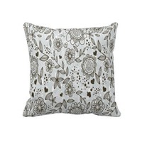"Floral Decorative Throw Pillow 20"" x 20"" from Zazzle.com"