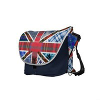 United Kingdom Flag of Fabric Patterns Courier Bag from Zazzle.com