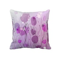 Purple, Pink and Floral Decorative Throw Pillow from Zazzle.com